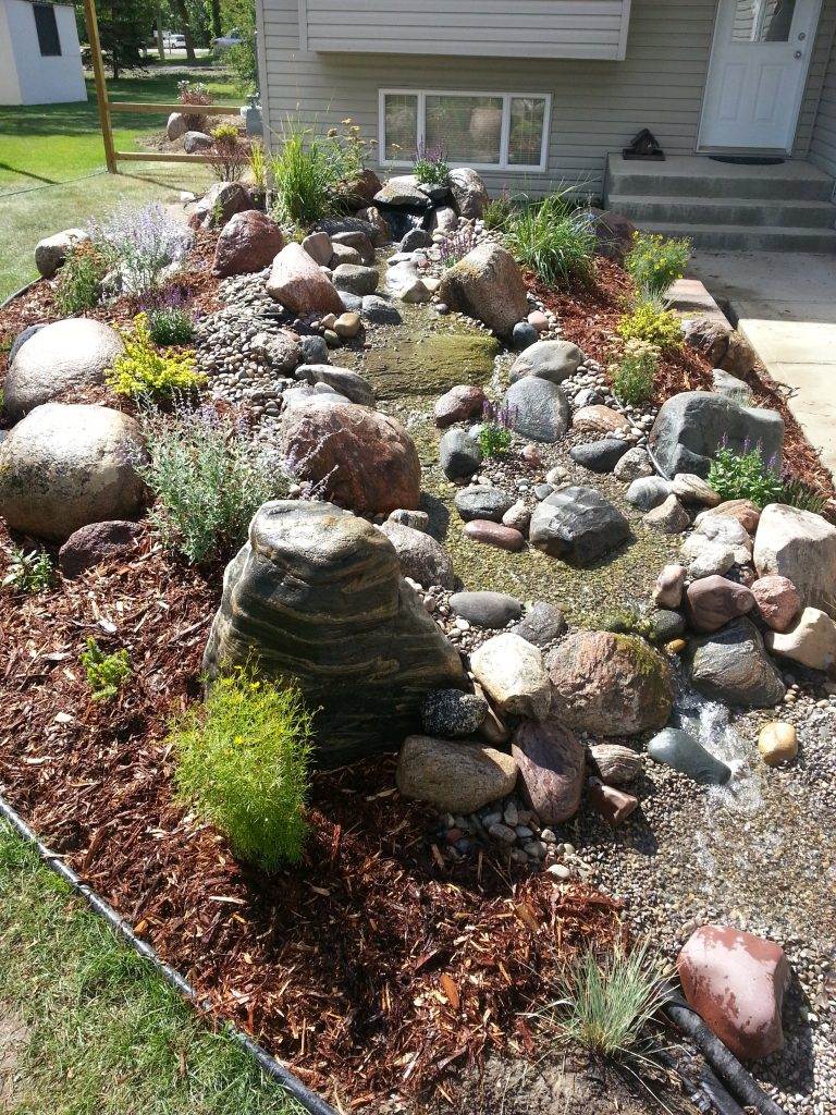 Front entry water feature